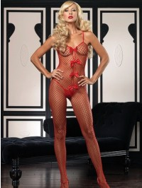 Industrial Net Bodystocking With Bows