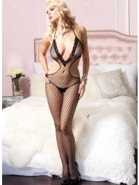 Deep V Net Bodystocking