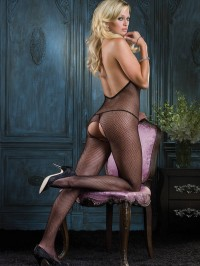 Deep V-Back Bodystocking