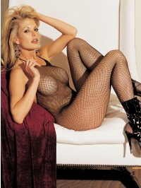 Halter Open Crotch Fishnet Body Stocking