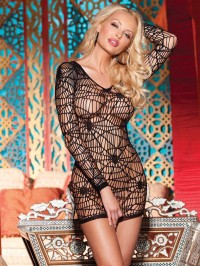 Spider Web Long Sleeve Dress