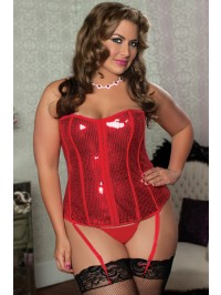 Sequin And Shine Bustier Set