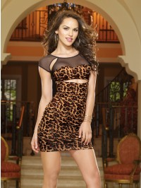 Animal Illusion Club Dress