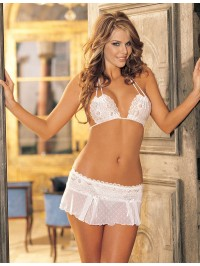 Stretch  Mesh And  Lace 2 PC Set