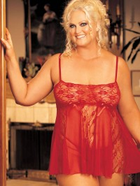 Sheer Lace Babydoll Nightie