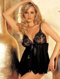 Sequin Embroidery  Babydoll Nightie