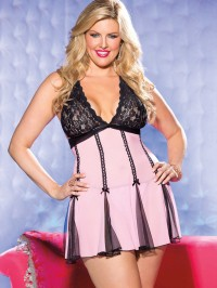 Plus Size Slimming Babydoll 2 PC Set