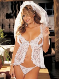 Peek-A-Boo Bride 3 PC Set