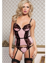 Eleganza 2 PC Lace Bustier Set