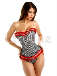 Striped Corset Set