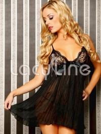 Sexy Pleats Babydoll Set