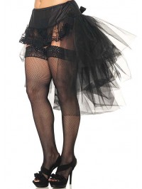 Plus Size Tulle Bustle Skirt