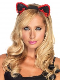 Ruffle Kitty Ear Headband