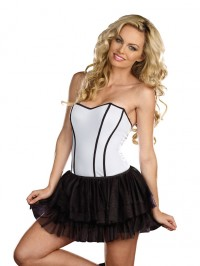 Fully Reversible White/Black Corset