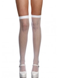Seamback Fishnet Thigh Highs