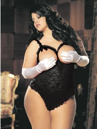 Plus Size Open Bust Lace Teddy