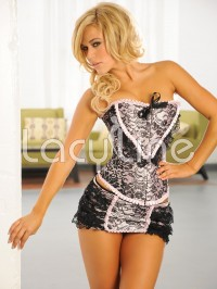 All Over Lace Corset With Skirt