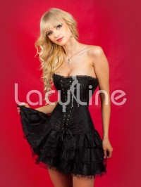 Lace Me Up Corset With Skirt