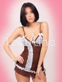 Chocolate Chemise Set