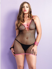 Industrial Net Plus Size Dress