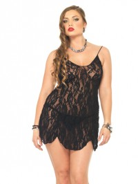 Rose Flared Plus Size Chemise Set