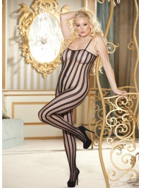 Plus Size Striped Bodystocking