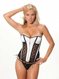 Mesh Lace Up Side Corset