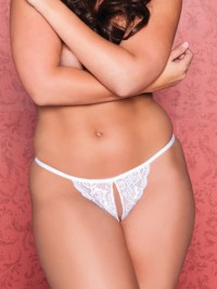 Tina Plus Size Crotchless Thong