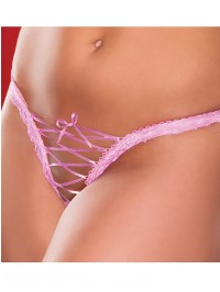 Roxy Plus Size Crotchless Lace Up Thong