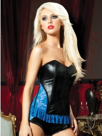 Lame And Lace Corset With Boyshort