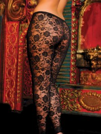 Plus Size Stretch Lace Leggings