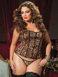 Basic Instinct Plus Size Corset Set