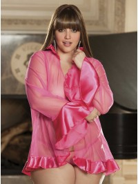 Plus Size Charmeuse Coat