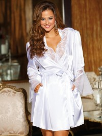 Elegant Charmeuse Plus Size Robe