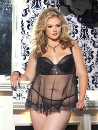 Shimmer And Sparkle Sequin Babydoll Set