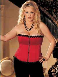 Plus Size Lace Trimmed Corset Top