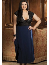 Plus Size Glossy Flow Gown