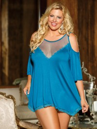 Plus Size Rayon Jersey Knit Sleepshirt