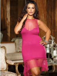 Plus Size Rayon Jersey Knit Gown