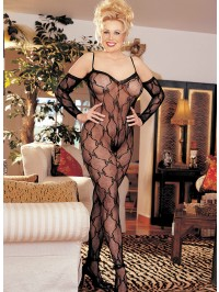 Plus Size Crotchless Lace Bodystocking