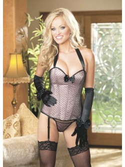 Point D'Esprit Corset Set