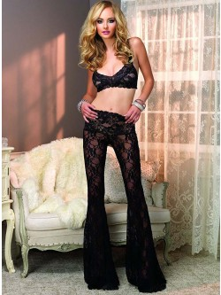 2 PC Retro Lace PJ Set