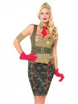 5 PC Military Pin Up Costume