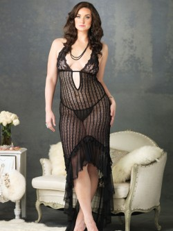 Crocheted Plus Size Gown