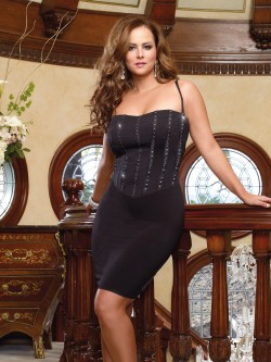 Plus Size Corset Style Slimming Dress