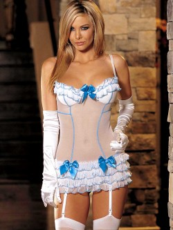 Ruffles and Bows Chemise Set