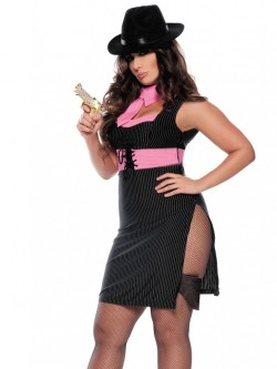 Ms. Gangster 4 PC Costume With Hat