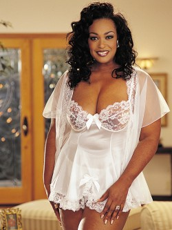Plus Size Adorable 3 PC Peignoir Set